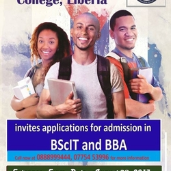 Last Entrance Exam for BScIT and BBA at Bluecrest Univ. College
