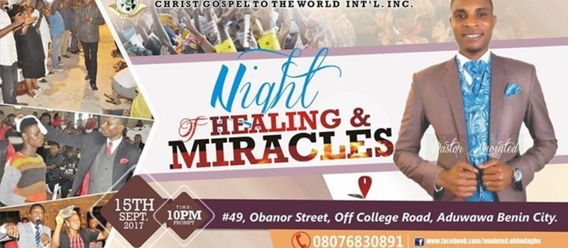 NIGHT OF HEALING AND MIRACLES