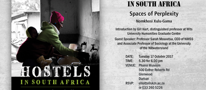"Launch of ""Hostels in South Africa: spaces of Perplexity"""