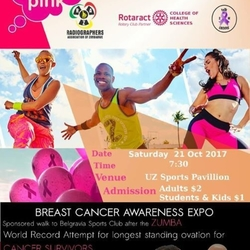 Radiographers And Rotaract Think Pink Expo!!!!!!