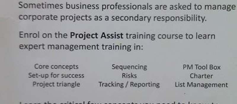 Project Assist Training Course