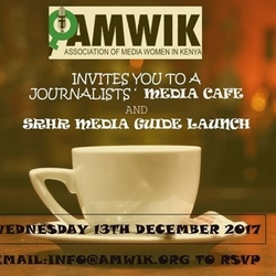 Journalists' Media Cafe and SRHR Media Guide Launch