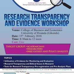 Research Transparency and Evidence Workshop