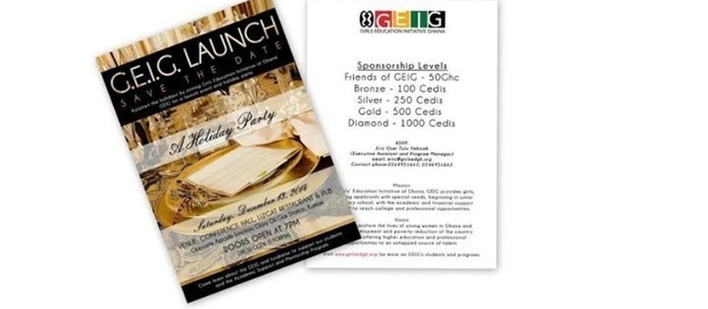 GEIG LAUNCH/HOLIDAY FUNDRAISING EVENT