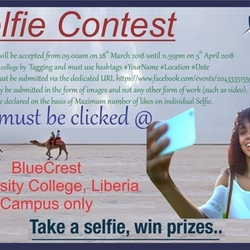 Selfie Contest at BlueCrest University College, Liberia