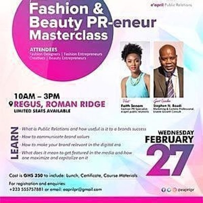 Fashion & Beauty PR-eneur Masterclass