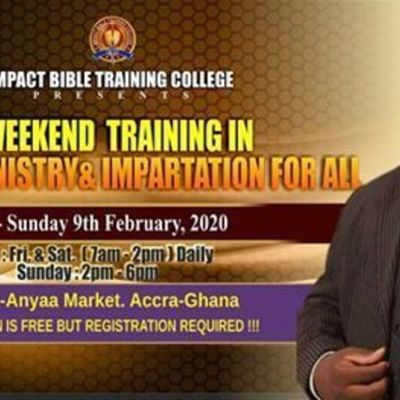 ONE WEEKEND TRAINING IN APOSTOLIC MINISTRY & IMPARTATION FOR ALL