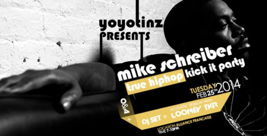 "Mike Schreiber ""True Hip-Hop"" Kick It Party (FREE REGISTRATION)"