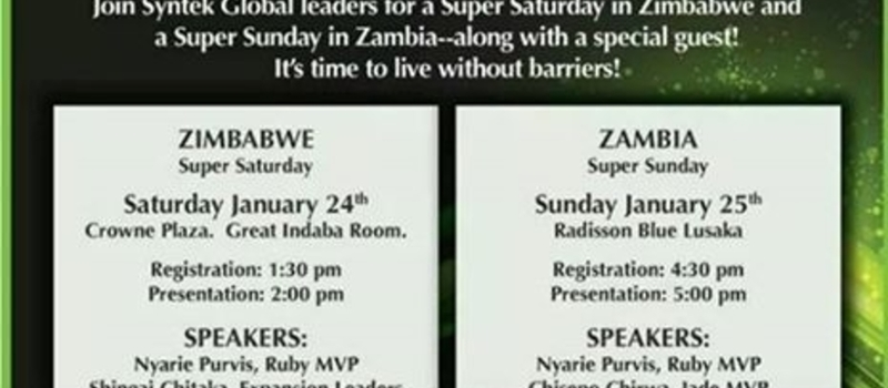 Syntek Global - Team Xtreme - Zambia Opportunity Meeting