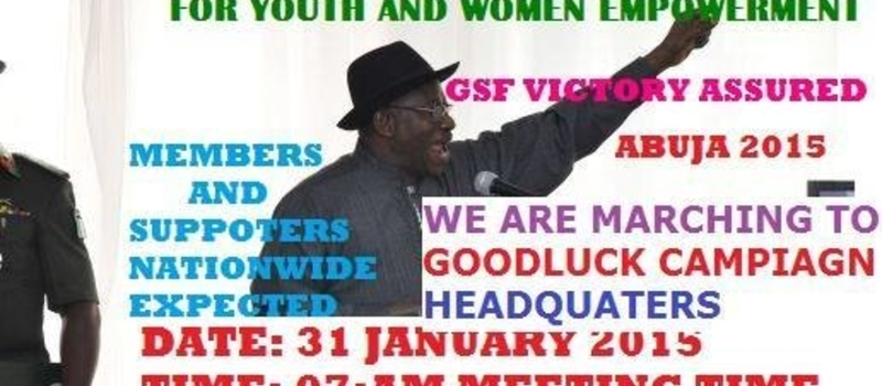 100% NIGERIANS SUPPORT FOR GOODLUCK JONATHAN 2015-2019 TRANSFORMATION RALLY