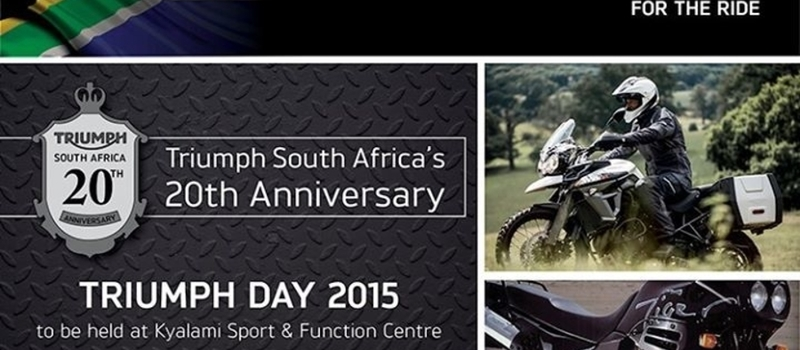 Triumph South Africa's 20th Anniversary