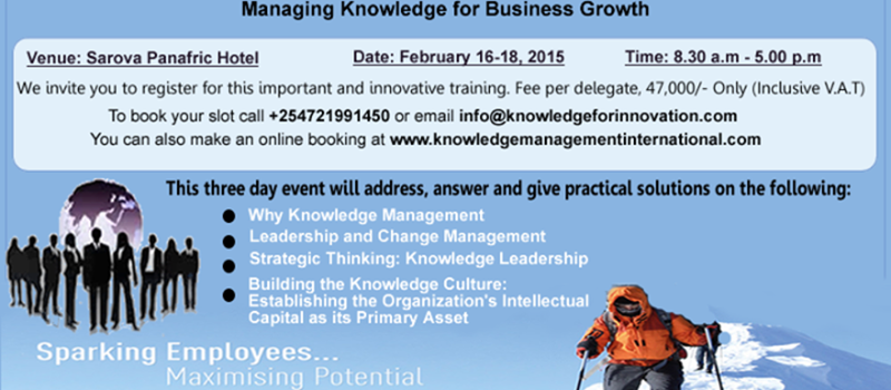 Knowledge Management for Effective Organizations