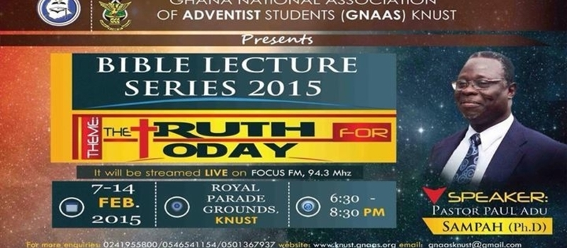 BIBLE LECTURE SERIES 2015