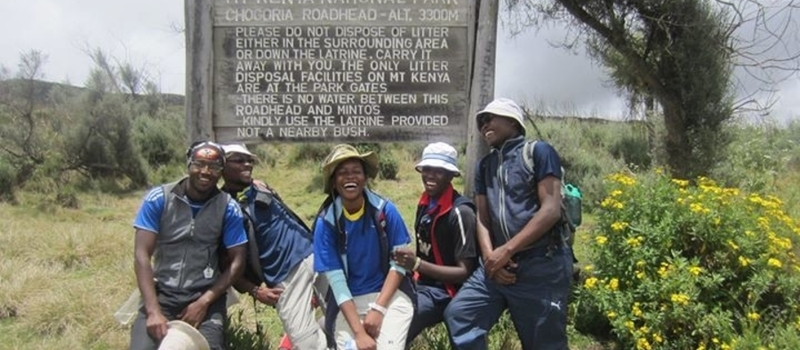 ECO TREK'S EXPEDITION MT. KENYA- CHOGORIA ROUTE 1ST MAY, 2015