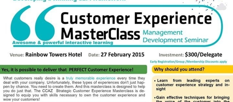 Customer Experience MasterClass : 26 & 27 February 2015