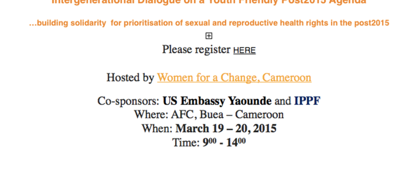 Cameroon: Intergenerational Dialogue on a Youth Friendly Post-2015 Agenda