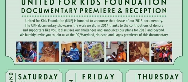 United for Kids Foundation Lagos Documentary Premiere & Reception