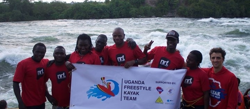 Air Guitar Battle for Ugandan Freestyle Kayaking Team