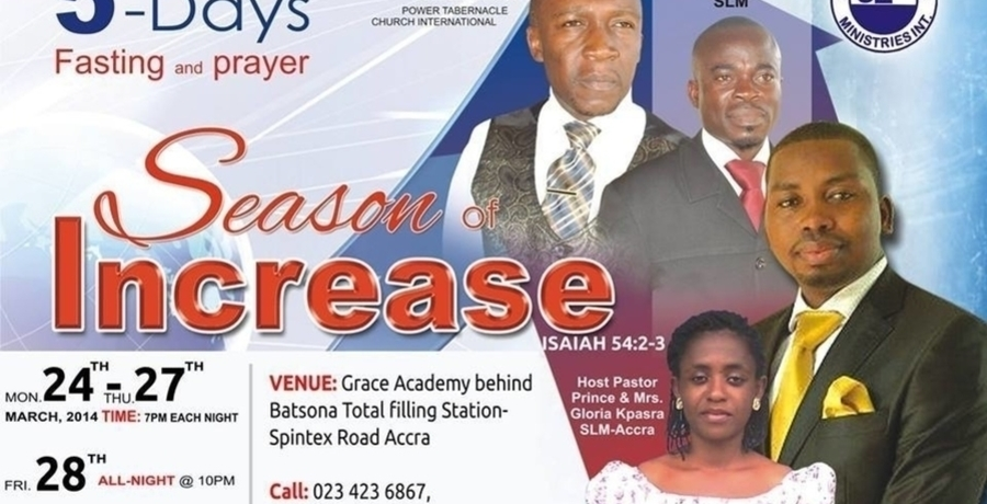 Season of Increase - (5 Days Fasting and Prayer)
