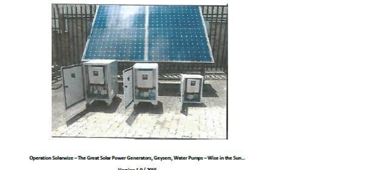 Switching on the SUN...welcome the launch of Solarwise Innovation...www.returningresident.co.za