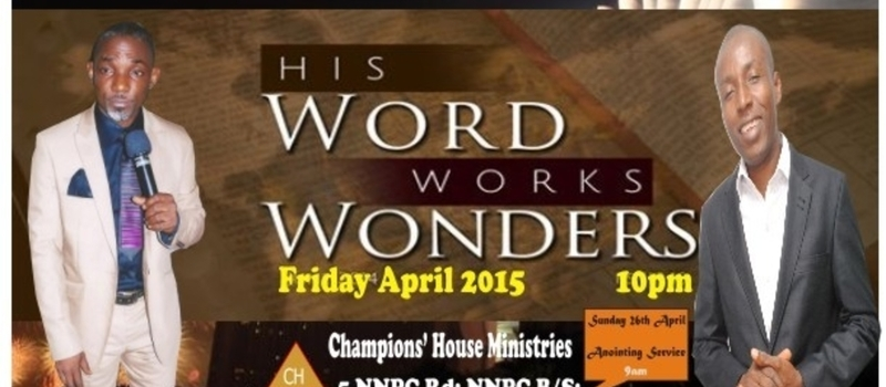 Night of Deliverance and Prayer Vigil. Friday 24th April 2015. 10 pM.