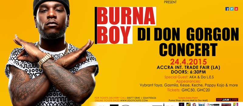 "BURNA BOY ""Di Don Gorgon Concert"""