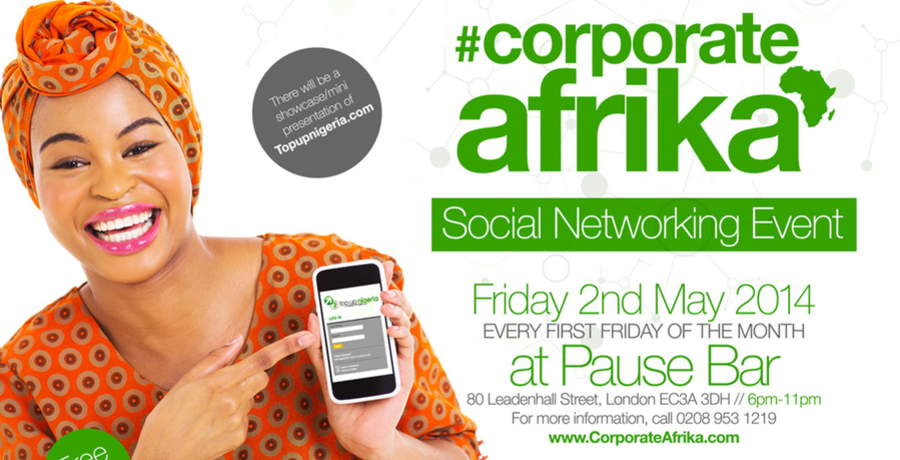Corporate Afrika Networking Event (May Edition)