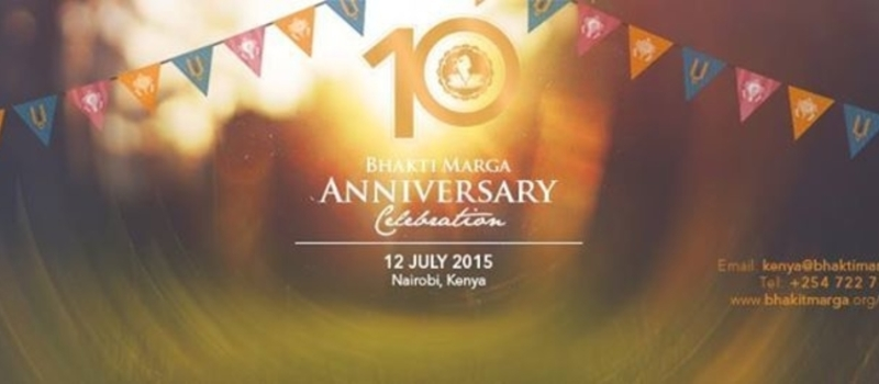 Bhakti Marga 10 Year Anniversary (July 12th, 2015) - Nairobi, Kenya