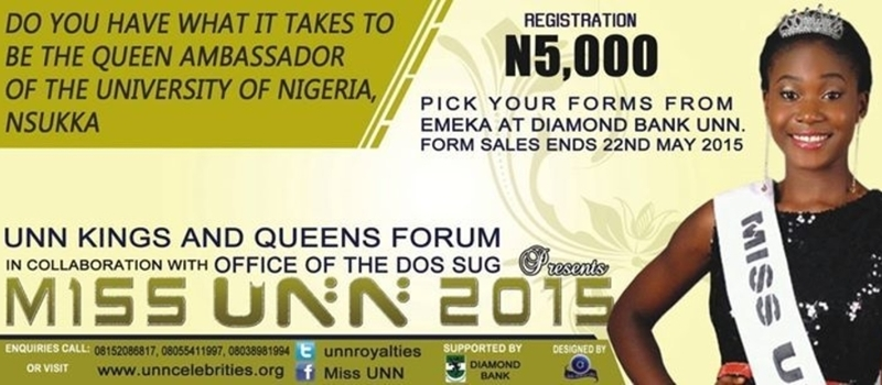 MISS UNIVERSITY OF NIGERIA NSUKKA 2015