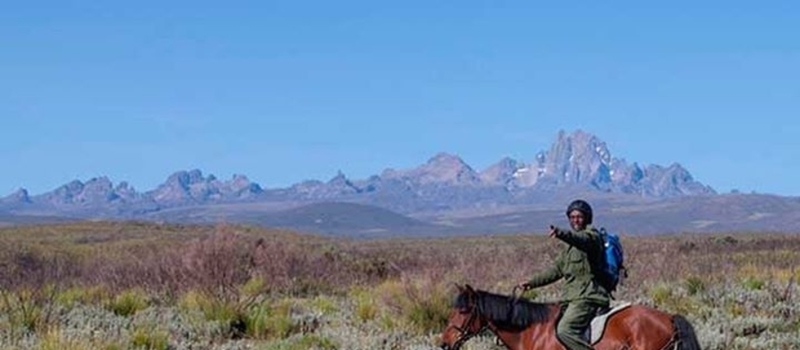 Man on Mount Kenya