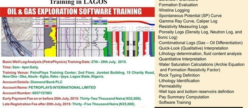 JULY Basic Well Log Analysis (PetroPhysics) in Lagos