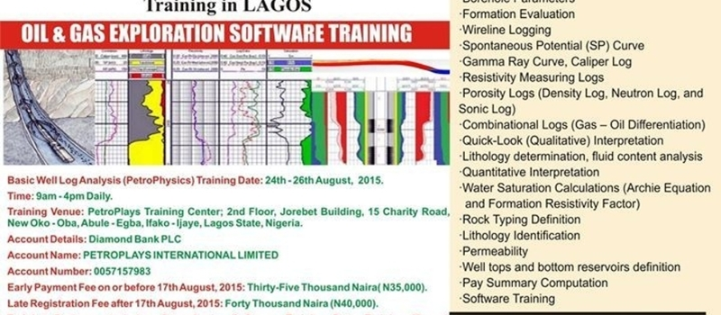 AUGUST Basic Well Log Analysis (PetroPhysics) in LAGOS