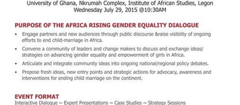 Dialogue on Ending Child Marriage through Young Women's Leadership and Activism