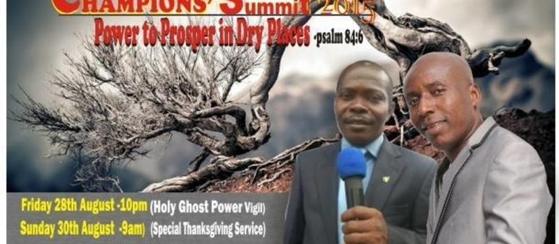 CHAMPIONS' SUMMIT - Men's Convention 2015. Friday 28th & Sunday 30th August.