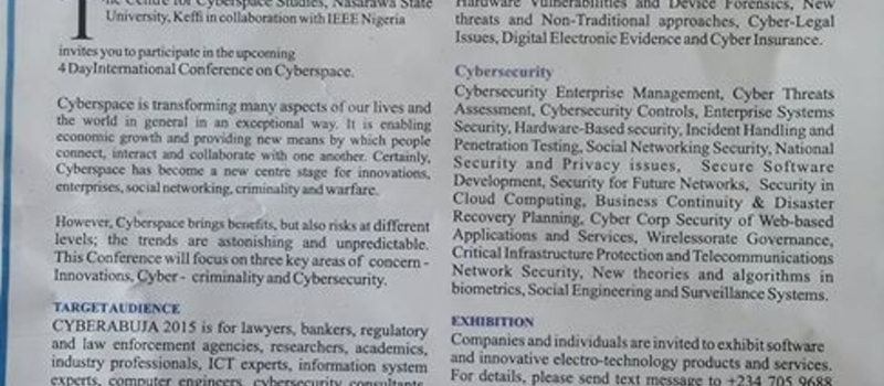 International Conference on Cyberspace