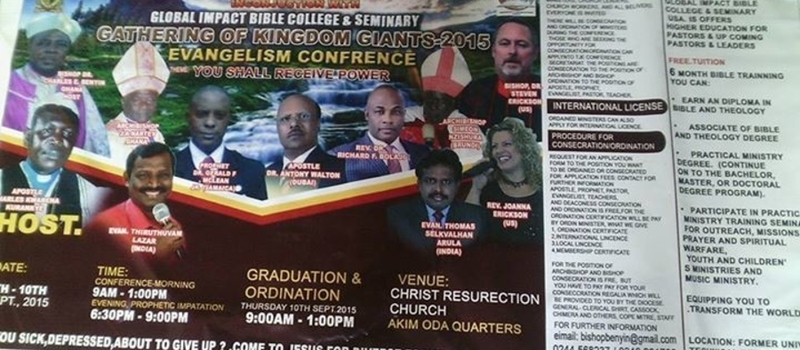 1ST GRADUATION AND ORDINATION AND CONFERENCE, GHANA.