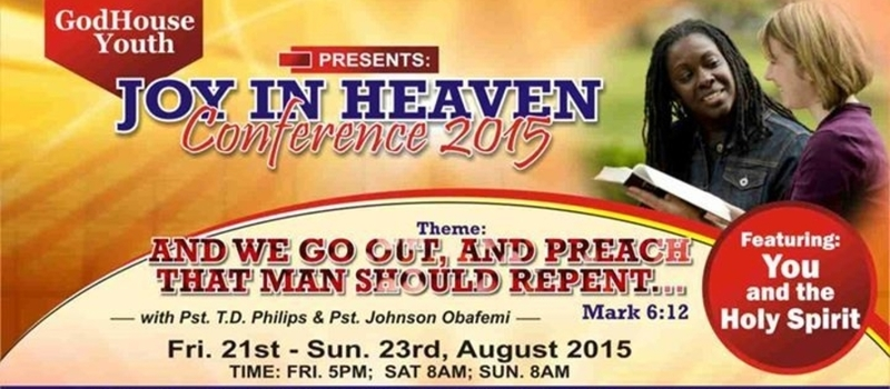 Joy in Heaven Conference 2015