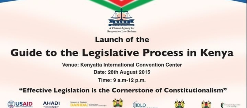 Official Launch of the Guide to the Legislative Process in Kenya