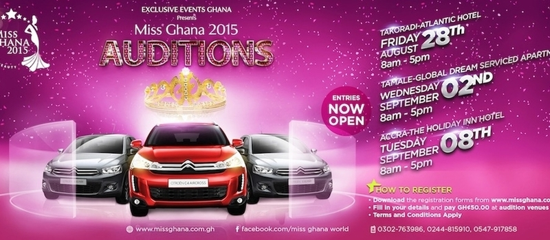 Miss Ghana 2015 AUDITION