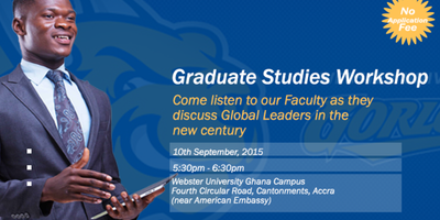 Webster University Ghana Campus: Graduate Studies Workshop