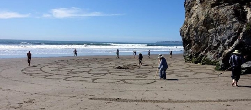 Public Participation Beach Art Day--Cape Town, South Africa!