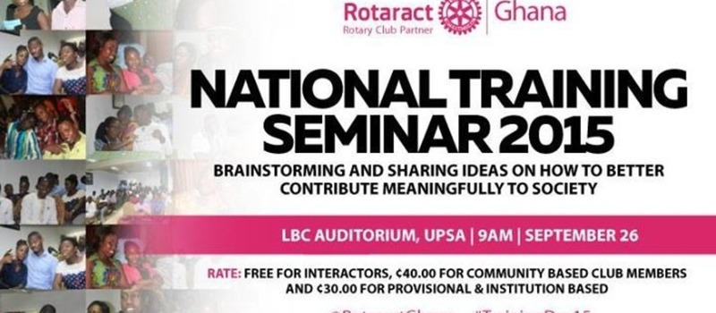 Rotaract Ghana, National Training