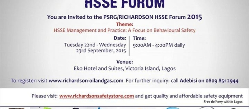 7TH EDITION OF THE ANNUAL PSRG - RICHARDSON HSSE FORUM