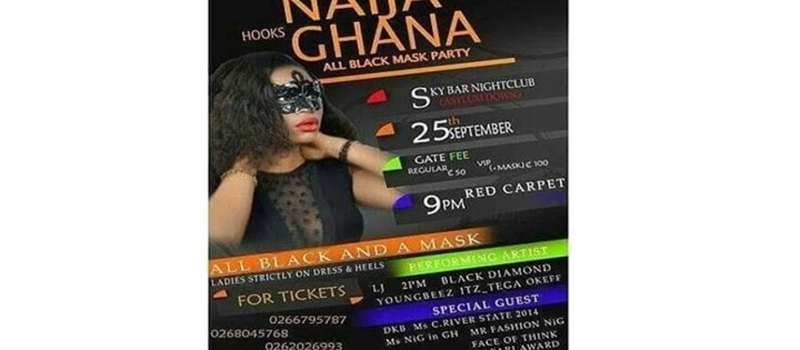 #NAIJA HOOKS #GHANA ALL BLACK MASK PARTY