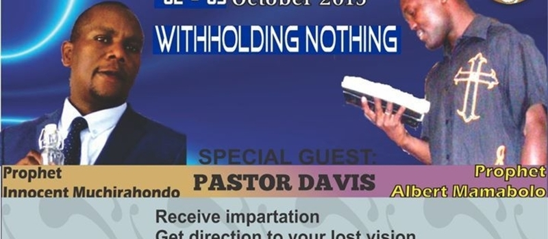 WITHHOLDING NOTHING PASTORS REVIVAL CONFERENCE