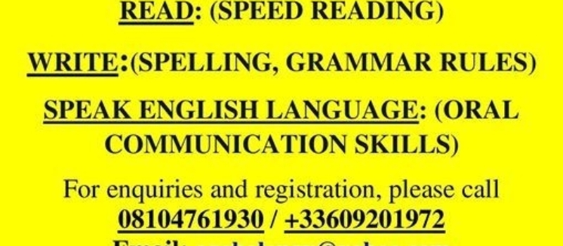 HOW TO READ, WRITE AND SPEAK ENGLISH WELL