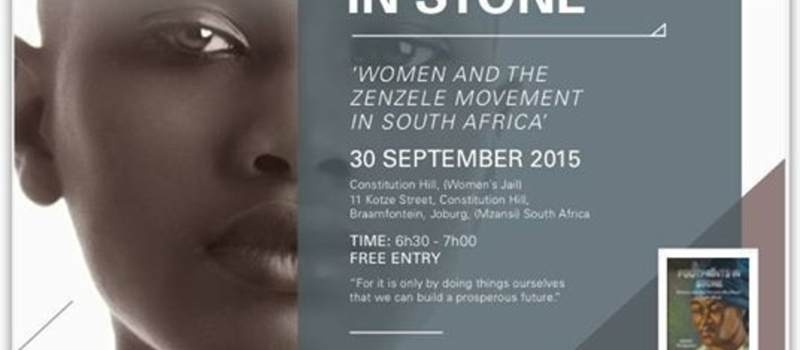 Launch of Footprints in Stone by Mango Tshabangu