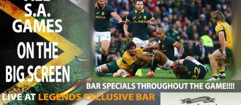 South Africa vs Samoa - Big Screen at Legends Exclusive Bar