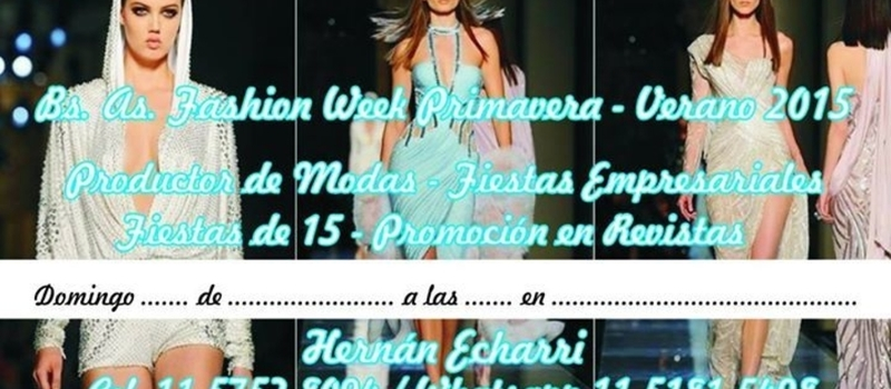 Bs As Fashion Week Primavera-Verano 2015