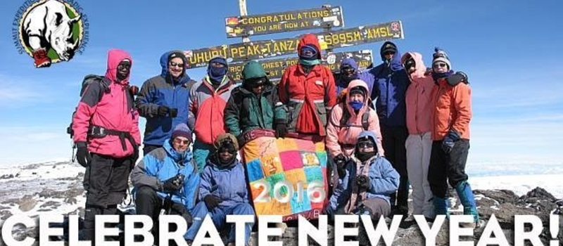 Christmas Eve in Tanzania, New Year's day on the summit!